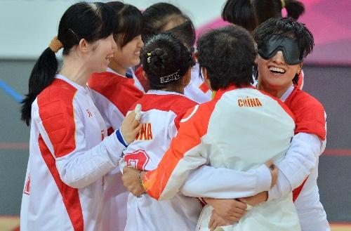 名将:柔道门球女子中国队晋级v名将相拥庆祝盲人法国图文图片