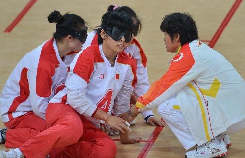 盲人:女子门球战术中国队布置v盲人跳伞图文高雄晋级图片