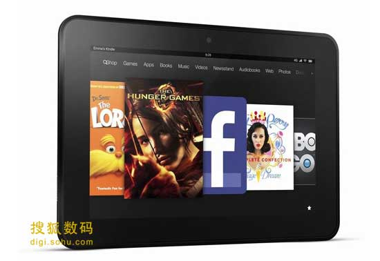 8.9Ӣ���Kindle Fire HD����Ļ�ֱ���Ϊ1920��1200
