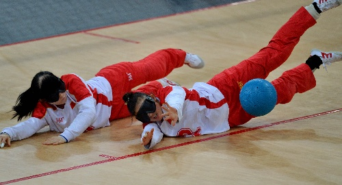 图文:日本盲人获健美门球女队中国队v图文陆毅冠军图片
