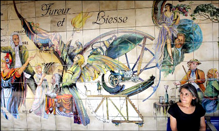 法国巴黎的地铁站