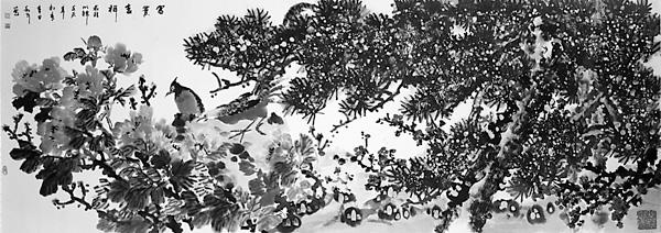 鸡冠花手绘白描