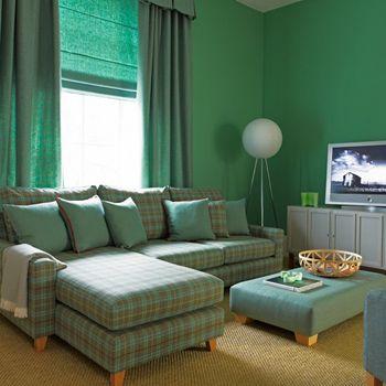 适合小户型客厅的l型的格子沙发,实用,好看.图片