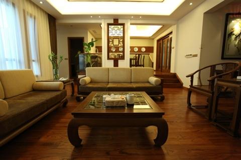 中式客厅一点透视