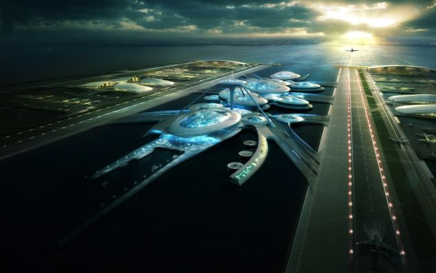 宇宙太空真实图片_伦敦新机场酷似外星人飞船(组图)-搜狐新闻
