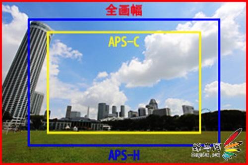 全画幅感光面积相对APS-C\/APS-H具有明显优