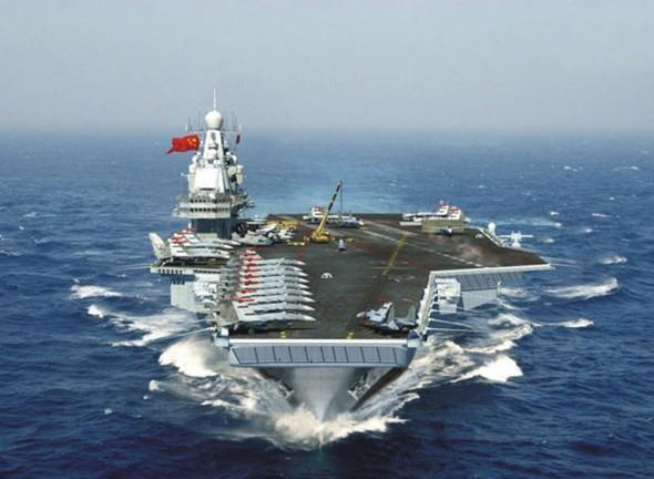 原文配图:中国航母服役后想象图。
