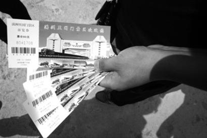 这是一名游客购买的满洲里国门景区门票