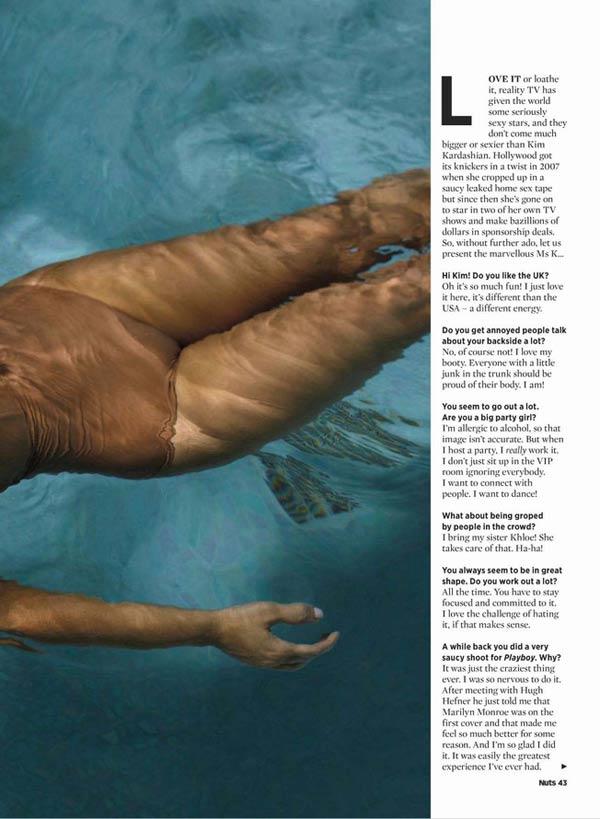 卡戴珊泳装大片登成人杂志封面 秀喷火身材(图)