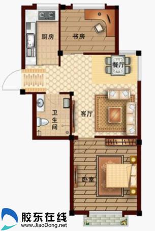 房子,是家最好的诠释,金秋恋爱季在柏林春天为爱停留    65平米户型图