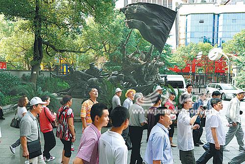 八一起义纪念馆游客众多