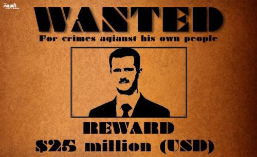 此前有报道称叙利亚一反对派悬赏2500万美元捉拿叙总统巴沙尔・阿萨德。