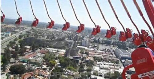 美一近百米高旋转飞椅骤停 游客被困空中4小时网页截图