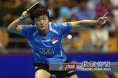 图文:女乒世界杯冯天薇晋级 冯天薇正手回球