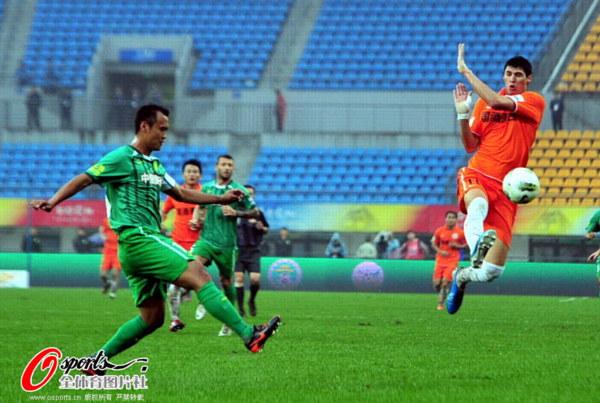 中超图:国安做客2-0人和 徐云龙传球被拦截