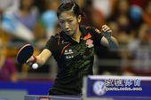 图文:女乒世界杯决赛赛况 刘诗雯正手轻松