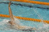 图文:2012全国游泳锦标赛 抓拍张丰林