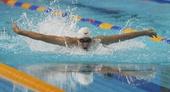 图文:2012全国游泳锦标赛 杨之贤帅气