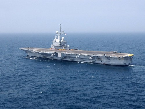 法国戴高乐号航母。