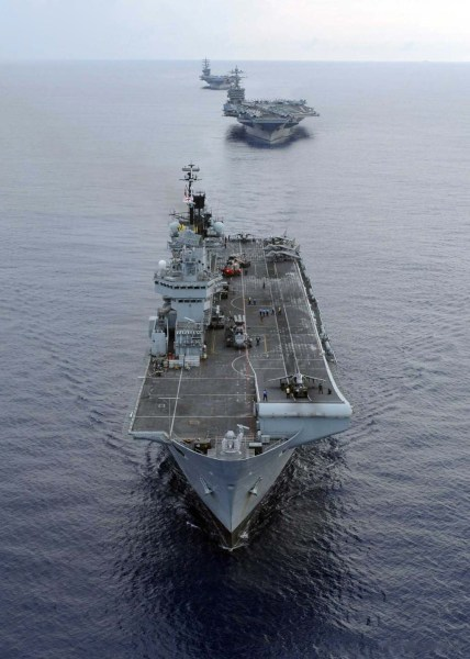 西班牙亚斯图里阿斯王子号航母。