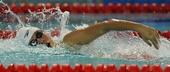 图文:游泳全国锦标赛赛况 黄镜桥在比赛中