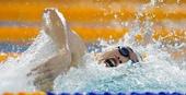图文:全国游泳锦标赛赛况 孙云超在比赛中