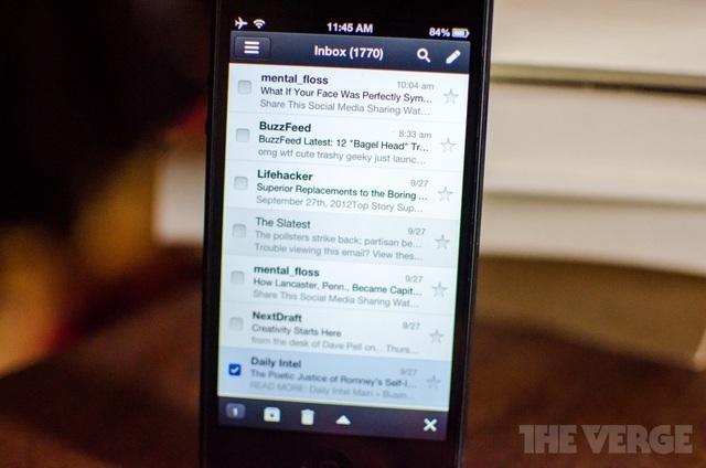 Gmail iOS应用优化 可支持iPhone 5的4英寸Retina显示屏