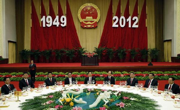 国务院举行国庆招待会 胡锦涛等出席 温家宝发表讲话