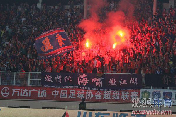 中超图:青岛1-0胜长春 球迷激动