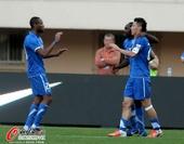 中超图:阿尔滨3-1国安 三叉戟庆祝进球