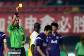 中超图:申鑫0-1泰达 裁判出示黄牌
