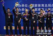 图文:北京获全锦赛男团冠军 男团亚军上海队