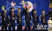图文:北京获全锦赛男团冠军 男团季军河北队