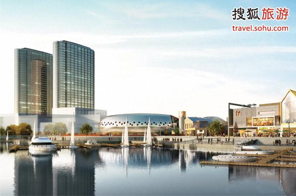 酒店位处于双子塔中,可俯瞰海上嘉年华跃动的色彩及风光如画的青岛