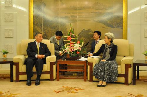 外交部副部长傅莹会见朝鲜青年外交官代表团-
