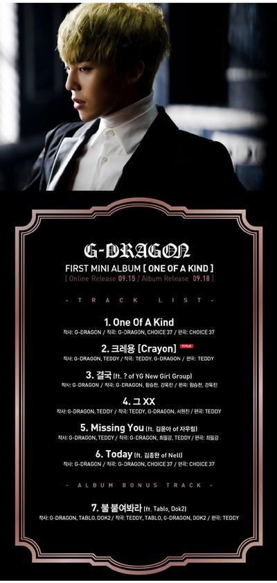 GD专辑月销量17万张位居榜首 东方神起排其后