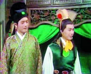1975年,TVB版《红楼梦》中,周润发(左)扮演蒋玉涵