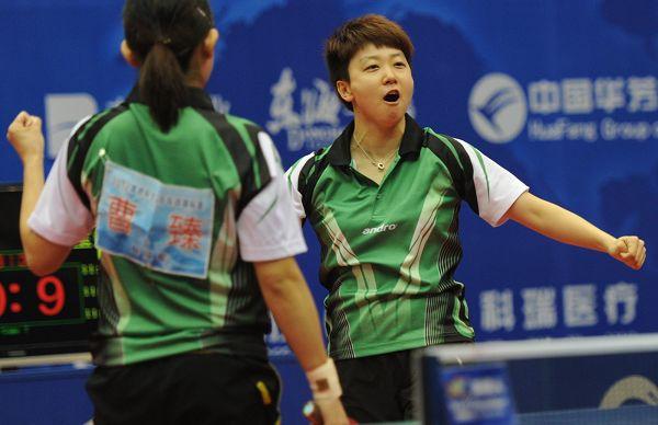 图文:2012乒乓球全锦赛决赛 木子霸气庆祝