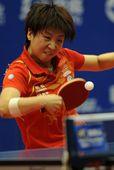 图文:2012乒乓球全锦赛决赛 杨扬咬牙
