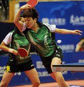 图文:2012乒乓球全锦赛决赛 猛张飞木子