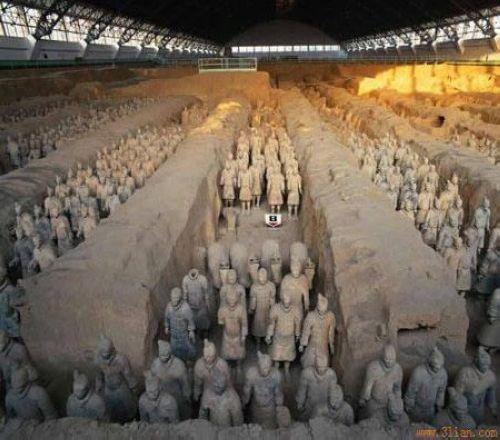 1.秦始皇兵马俑(发现地及时间中国西安,1974年)