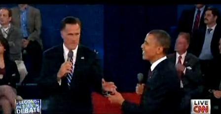 奥巴马罗姆尼第二次辩论现场视频截图