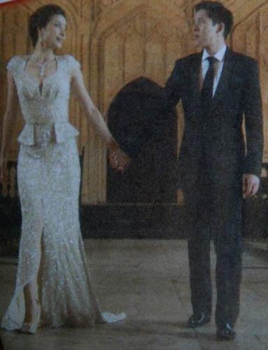 郭晶晶、霍启刚婚纱照。新华网