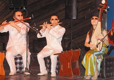 大河盲人版权配乐教养中国之舞送视频献艺乐团花图片