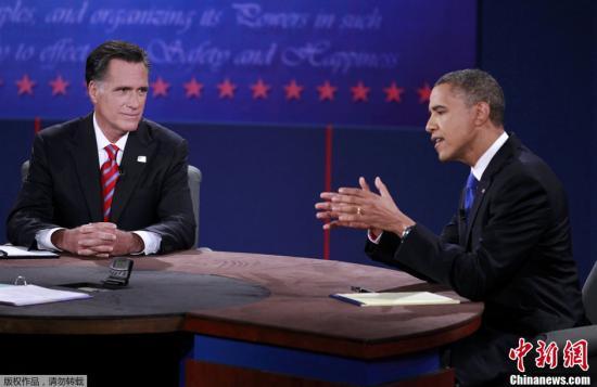 美国大选三场辩论过后罗姆尼支持率急追奥巴马