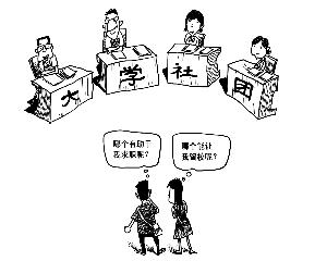 """高校社团莫成""""政绩秀场"""""""