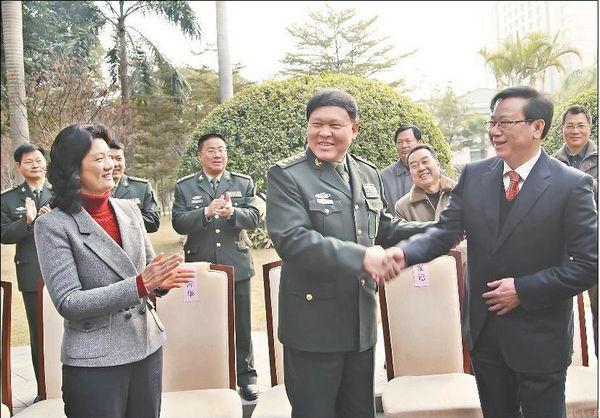 资料图:中国人民解放军总政治部主任张阳。