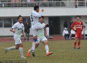 中超图:亚泰0-3绿城 曹轩庆祝