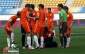 中超图:贵州1-1天津 球员受伤