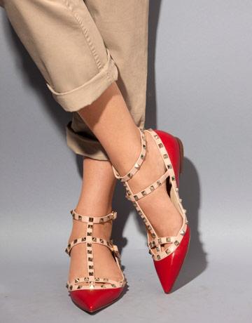 valentino华伦天奴铆钉高跟鞋